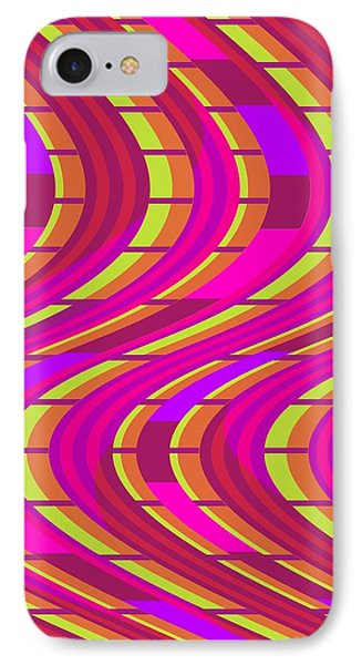 Bold Swirl  IPhone Case by Louisa Knight