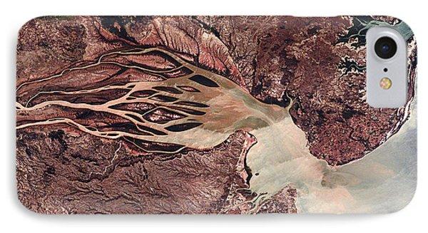 Bombetoka Bay, Madagascar, Satellite IPhone Case by NASA / Science Source