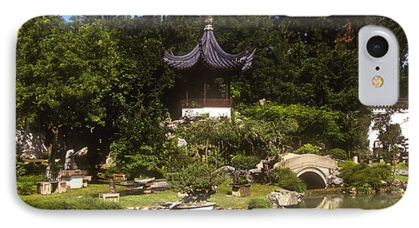 IPhone Case featuring the photograph Bonzai Garden And Gazebo 19l by Gerry Gantt