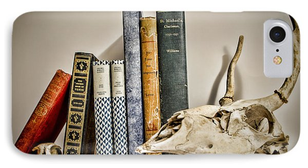 Books And Bones Phone Case by Heather Applegate