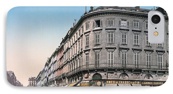 Bordeaux - France - Rue Chapeau Rouge From The Palace Richelieu Phone Case by International  Images
