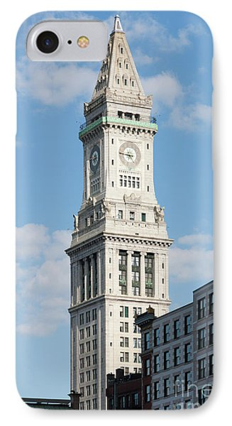 Boston Custom House Tower Phone Case by Clarence Holmes