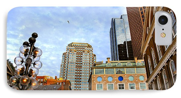 Boston Downtown IPhone Case by Elena Elisseeva