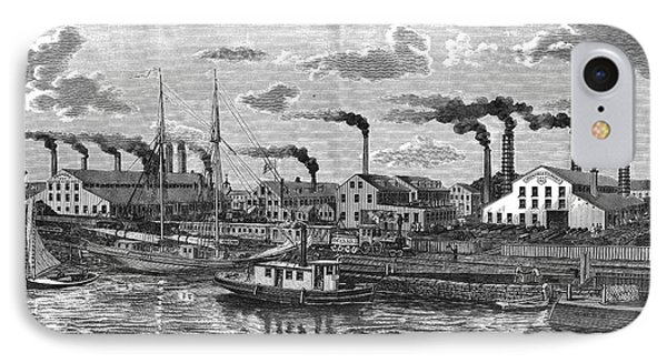 Boston: Iron Foundry, 1876 Phone Case by Granger