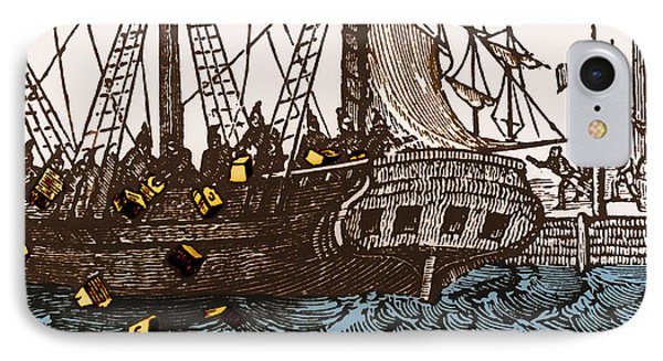 Boston Tea Party, 1773 IPhone Case by Omikron