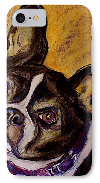 IPhone Case featuring the painting Boston Terrier by D Renee Wilson