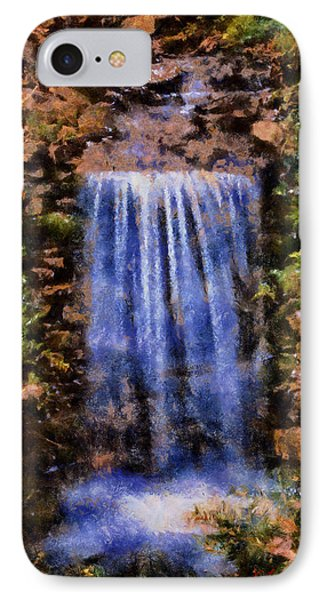 IPhone Case featuring the digital art Botanical Garden Falls by Lynne Jenkins