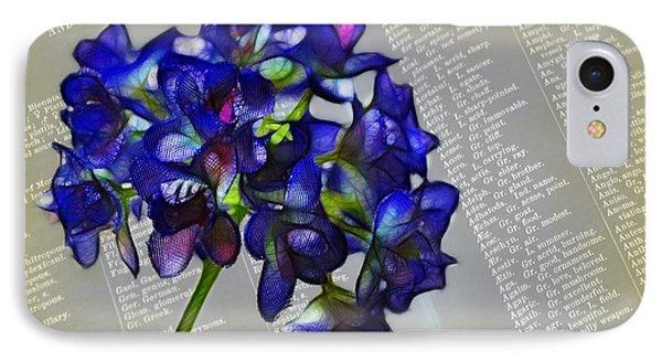 Botany Book Phone Case by Judi Bagwell