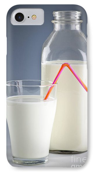 Bottle And Glass Of Milk IPhone Case by Elena Elisseeva