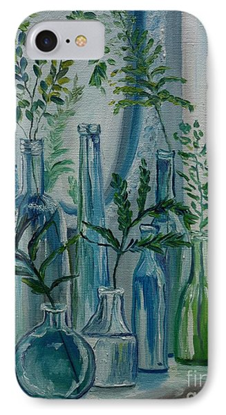 IPhone Case featuring the painting Bottle Brigade by Julie Brugh Riffey