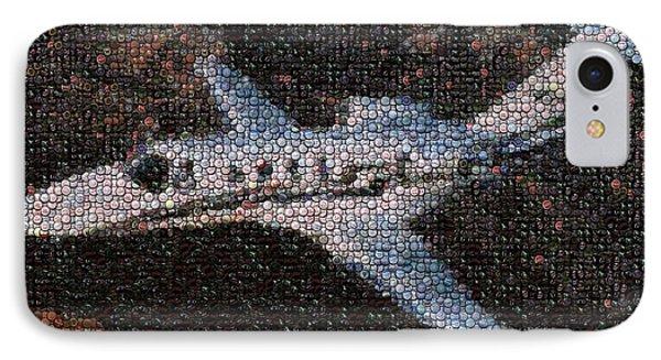 Bottle Cap Cessna Citation Mosaic Phone Case by Paul Van Scott