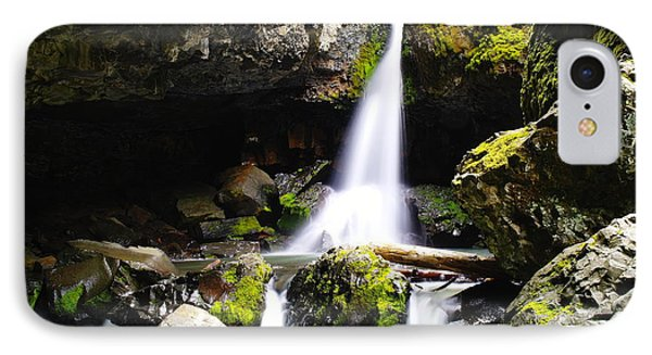 Boulder Cave Falls Revisited Phone Case by Jeff Swan