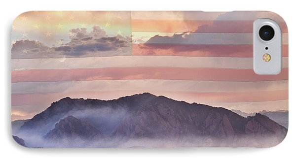 Boulder Colorado Flatirons And The Flagstaff Fire Usa IPhone Case by James BO  Insogna