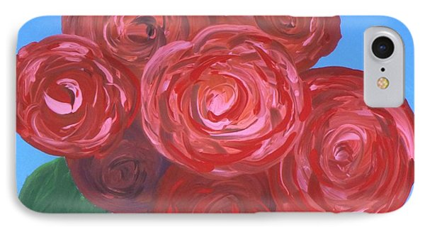 IPhone Case featuring the painting Bouquet Of Roses by Alys Caviness-Gober