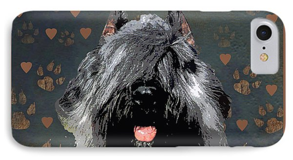 Bouvier Des Flandres Phone Case by One Rude Dawg Orcutt