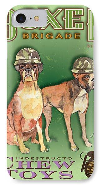 Boxer Brigade Chew Toys Phone Case by Amelia Hunter