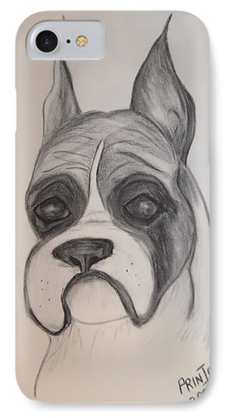 IPhone Case featuring the drawing Boxer by Maria Urso
