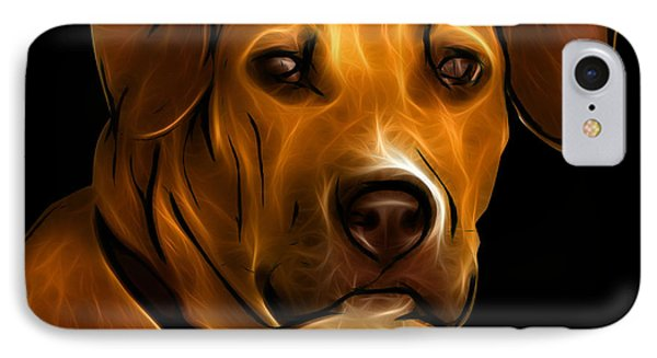 Boxer Pitbull Mix Pop Art - Orange Phone Case by James Ahn