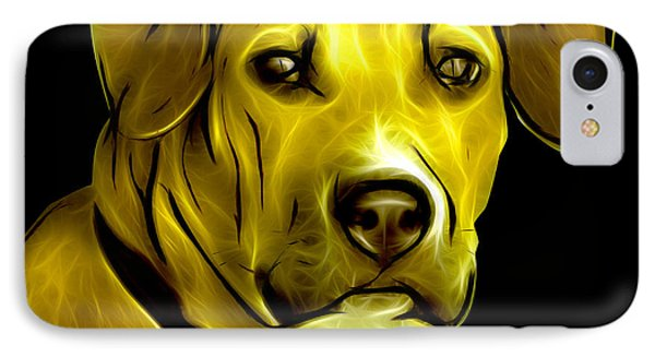 Boxer Pitbull Mix Pop Art - Yellow Phone Case by James Ahn