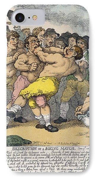 Boxing Match, 1812 IPhone Case by Granger