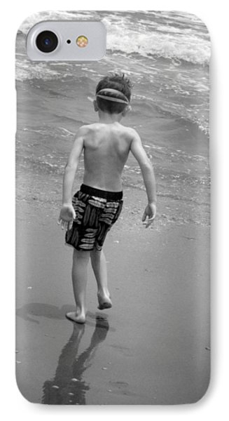 Boy At The Ocean IPhone Case by Kelly Hazel
