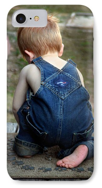 Boy In Overalls IPhone Case by Kelly Hazel