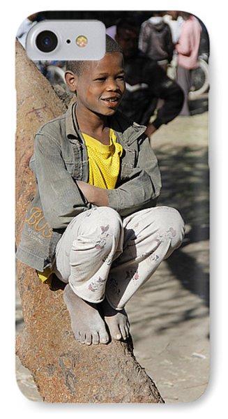 Boy In Zen Thought IPhone Case