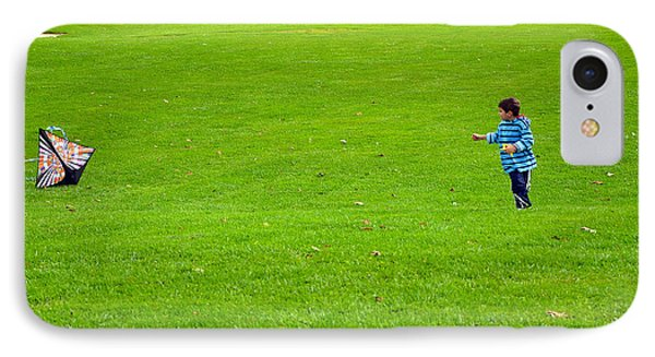 IPhone Case featuring the photograph Boy With His Kite Maine by Maureen E Ritter