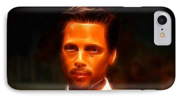 Brad Pitt II  Phone Case by Lee Dos Santos