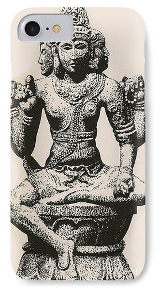Brahma, Hindu God IPhone Case by Photo Researchers
