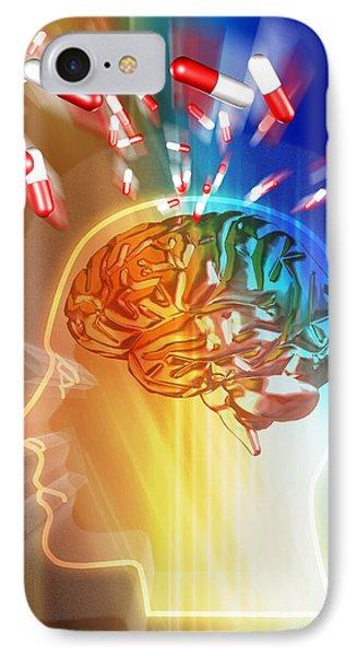 Brain Drug Phone Case by Pasieka