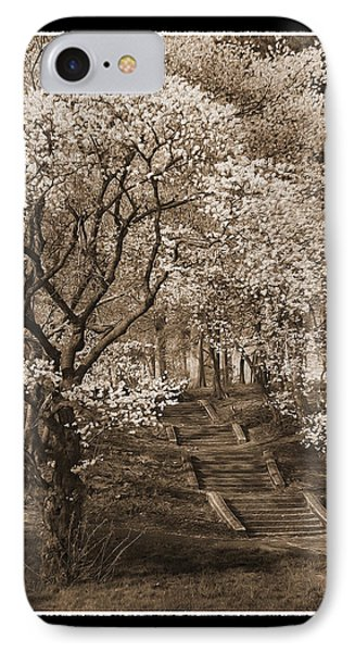 Branchbrook Park In Sepia IPhone Case