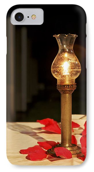 Brass Candle Romance IPhone Case by Kantilal Patel