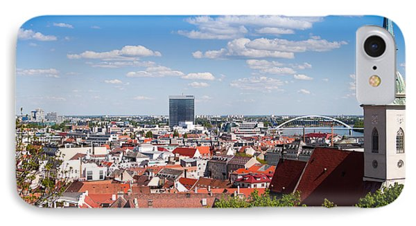 IPhone Case featuring the photograph Bratislava Roofs by Les Palenik