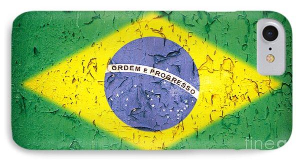 Brazil Flag Vintage IPhone Case