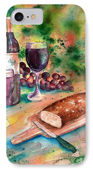 Bread And Wine Phone Case by Sharon Mick