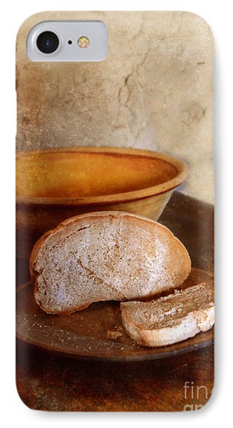 Bread On Rustic Plate And Table Phone Case by Jill Battaglia