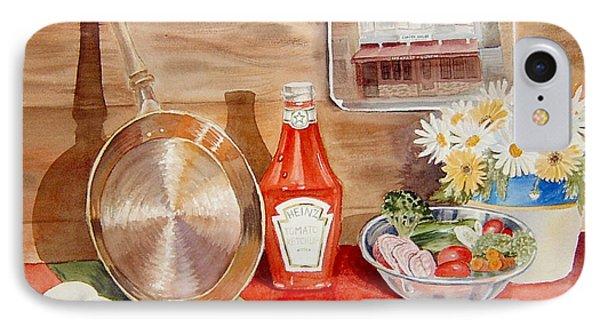 Breakfast At Copper Skillet Phone Case by Irina Sztukowski