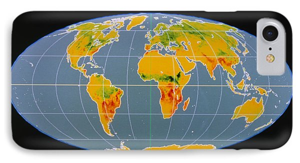 'breathing Earth' Co2 Input/output, Global Map Phone Case by Nasa