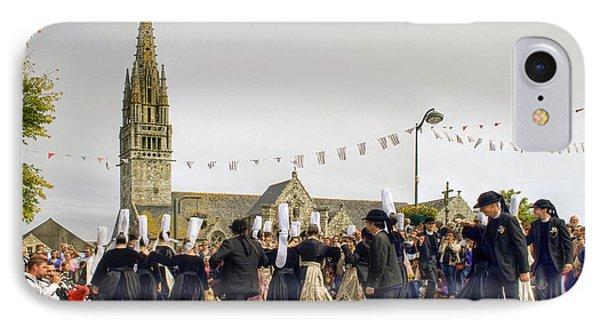 Breton Dancing Phone Case by Sophie De Roumanie
