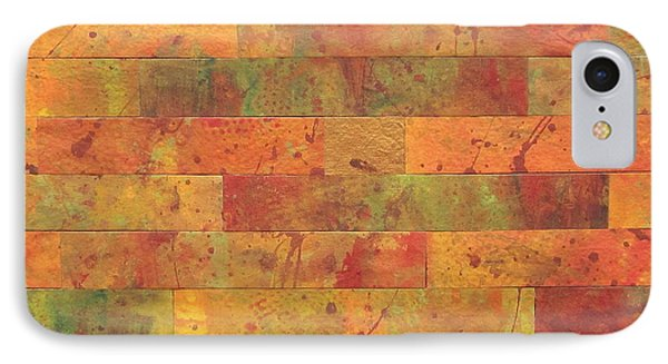 IPhone Case featuring the painting Brick Orange by Kathy Sheeran