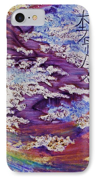 IPhone Case featuring the painting Bridge Between Two Worlds-1 by Joy Braverman