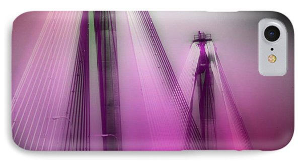 Bridge Cables One Phone Case by Marty Koch