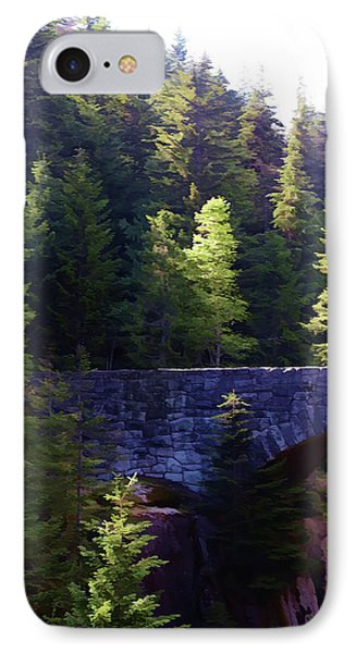 Bridge In The Middle Of Beauty IPhone Case by Cherie Duran