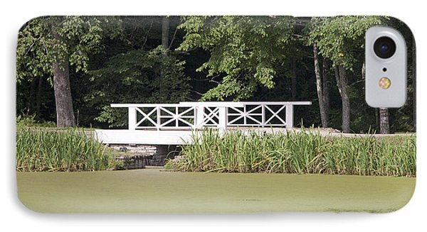Bridge Over An Algae Covered Pond Phone Case by Jaak Nilson