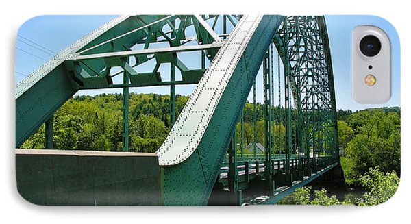 IPhone Case featuring the photograph Bridge Spanning Connecticut River by Sherman Perry