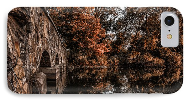IPhone Case featuring the photograph Bridge To Autumn by Tom Gort