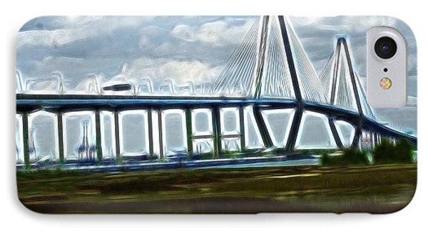 Bridge To Charleston Phone Case by Darleen Stry
