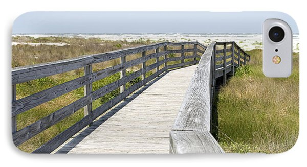 Bridge To The Beach Phone Case by Glennis Siverson