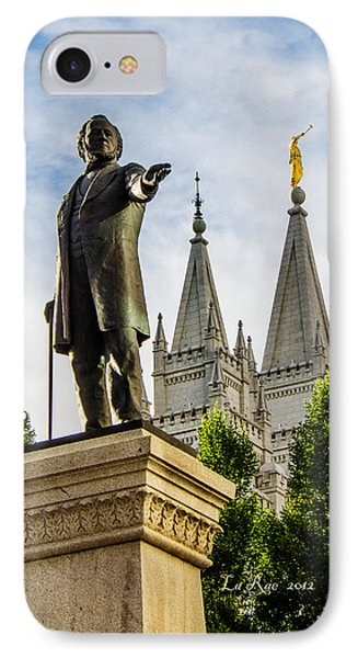 Brigham's Slc Temple Phone Case by La Rae  Roberts